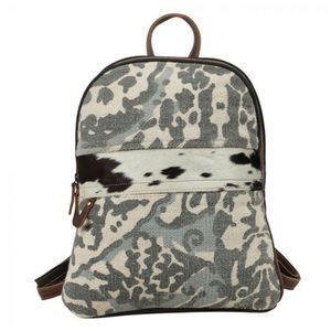 MYRA BAG Dough hairon backpack NWT